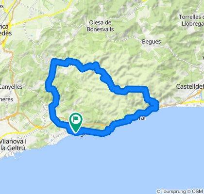 Sitges - Garraf - Sitges. Road cycling Catalonia