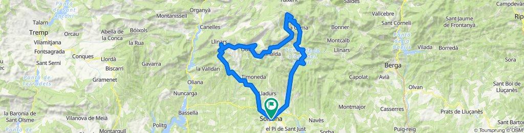 Solsona - Port del Comte - Solsona. Road Cycling Catalonia