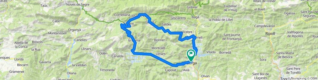 Berga - Pedraforca - Berga. Road cycling Catalonia