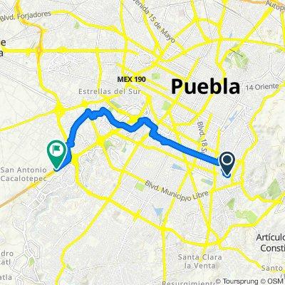Paseo rápido en Tlaxcalancingo