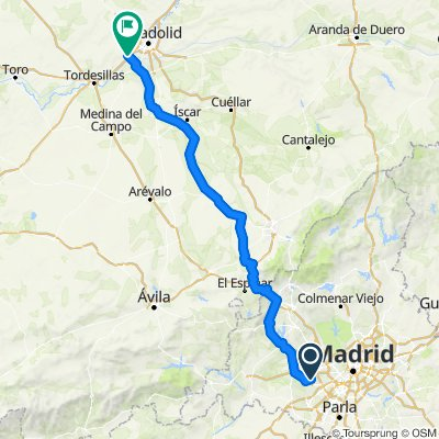 Madrid-Gijón I, Madrid-Simancas