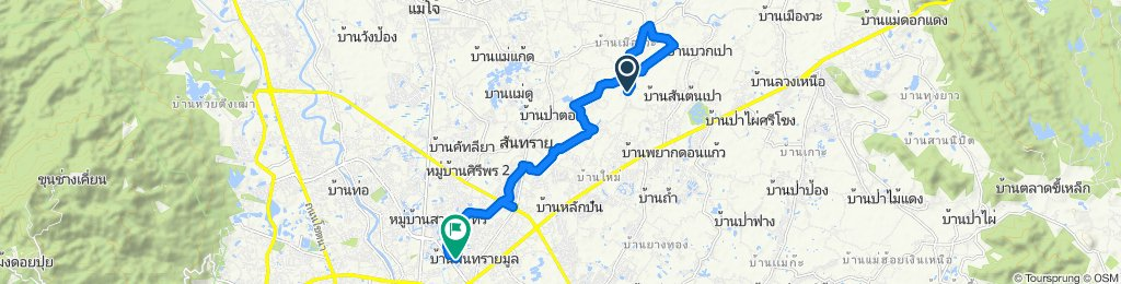 High-speed route in Tambon San Sai Noi