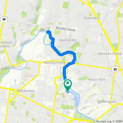 Supersonic route in Maribyrnong