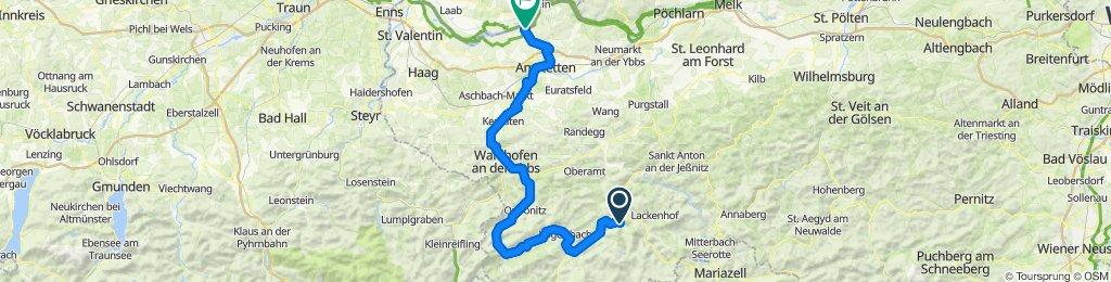 Ybbstalradweg Lunz zur Donau