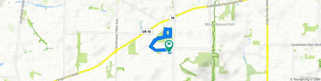 Restful route in Beaverton