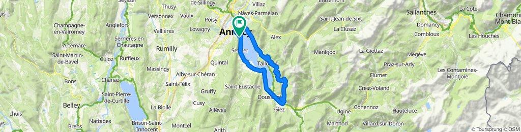 TOUR D'ANNECY+COL DE FORCLAZ DE MONTMIN (por Menthon-Saint-Bernard/ Le Villard)