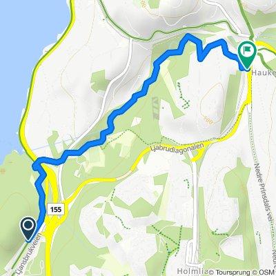 Grønne Sykkelruter, Oslo: Hvervenbukta – Ljanselva – Hauketo