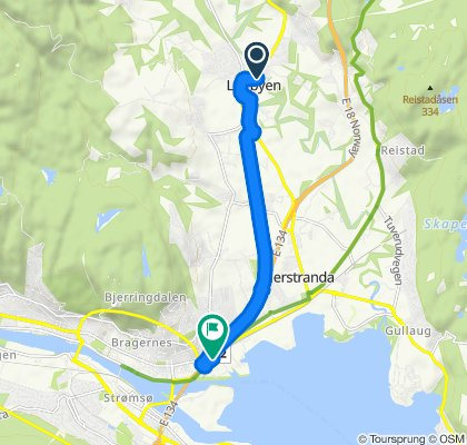 Grønne Sykkelruter, Drammen: Lierbyen – Brakerøya