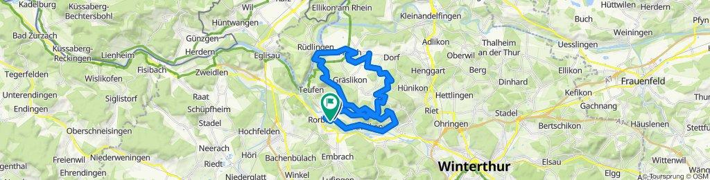 Entspannende Route in Freienstein-Teufen