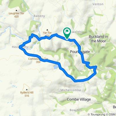 Dartmoor hills: Hex, Holne & Poundsgate