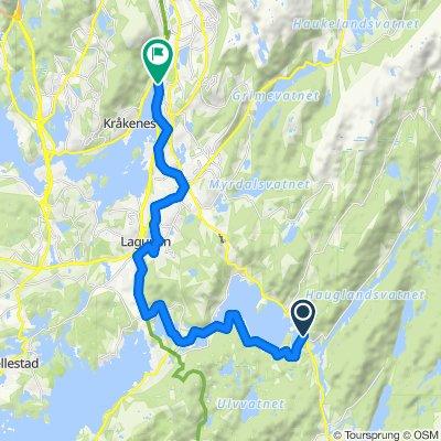 Grønne Sykkelruter, Bergen: Gamle Osbanetrasèen: Kalandseidet – Stend – Nesttun – Krambua v/ Fjøsanger