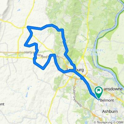 Gravel Ride Leesburg 33 Miles