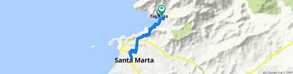 Paseo rápido en Taganga