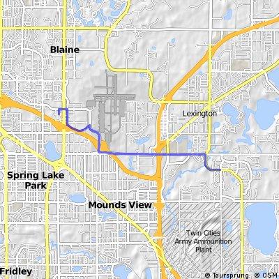 Shoreview to Village Bank (Blaine) via C.R. J