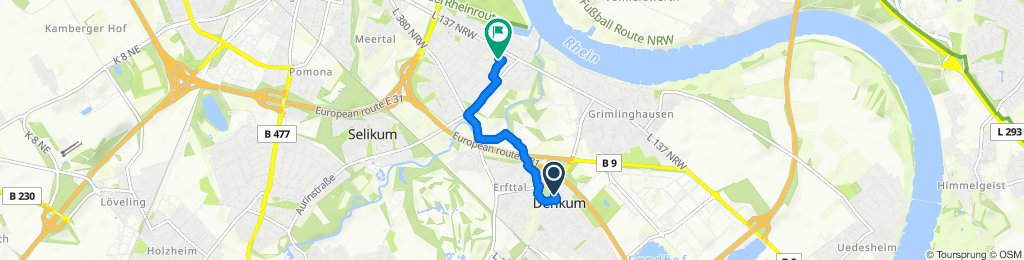 Sportliche Route in Neuss