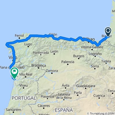 Nordküste Spanien und Portugal