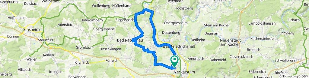 Entspannende Route in Neckarsulm