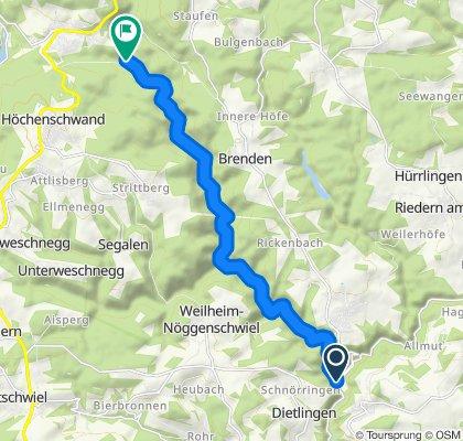 "Schwarzatal/""Plattenweg"" (Witznau - Schwarzabruck)"