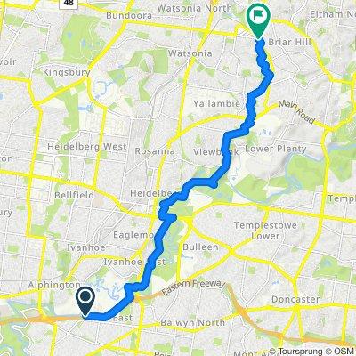 Greensborough to Eastern Freeway