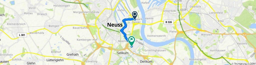Gemütliche Route in Neuss