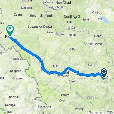 dag 21 Kljuc - Bihac (100 km - 1400 HM)