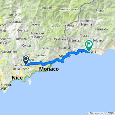 Relaxed route in Ventimiglia Quick