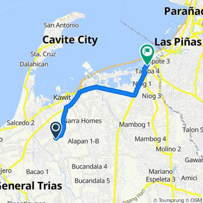 Moderate route in Bacoor