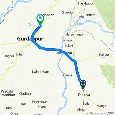 Slow ride in Gurdaspur