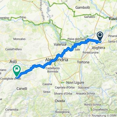 Voghera - Agliano Terme (92 km 225 m max)