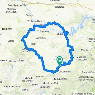 Eapa 2 Castelseras-calanda-Albalate-La zaida-Sastago-Caspe-Valdealgorfa-Castelseras