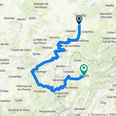 Etapa3 Casteseras-Conv calanda-castellote-Ladruñan-Pitarque-Cantavieja-morella!!!!