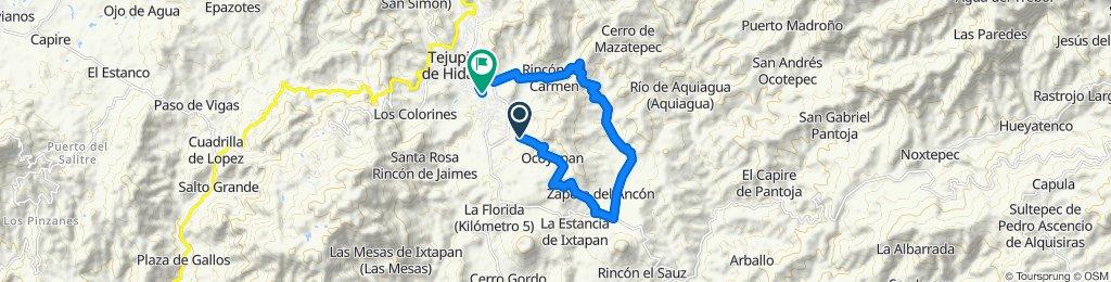 Ruta constante en Tejupilco de Hidalgo