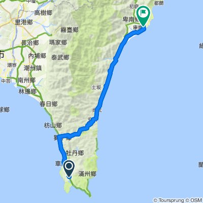 hengchun to Taidong