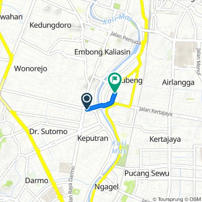Moderate route in Kecamatan Gubeng