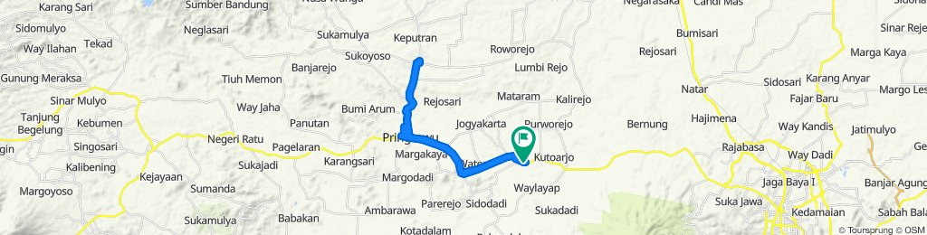 Supersonic route in Kecamatan Gading Rejo