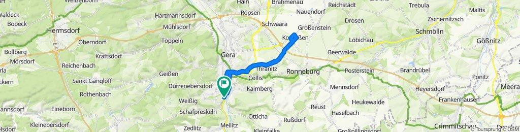 Überschallgeschwindigkeitsfahrt in Gera