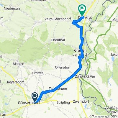 Gänserndorf (Porschgasse) - Dürnkrut (Göthegasse)