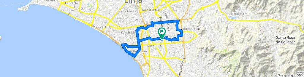 Ruta constante en Cercado de Lima