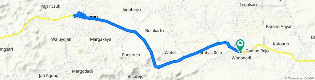 Sporty route in Kecamatan Gading Rejo