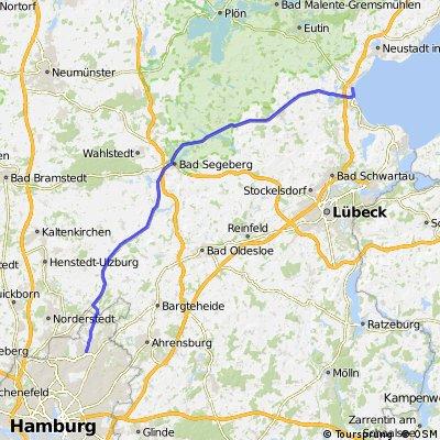 Hamburg-Poppenbüttel nach Haffkrug (Ostsee)