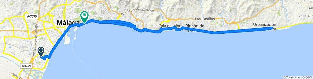 Ruta deportiva en Málaga