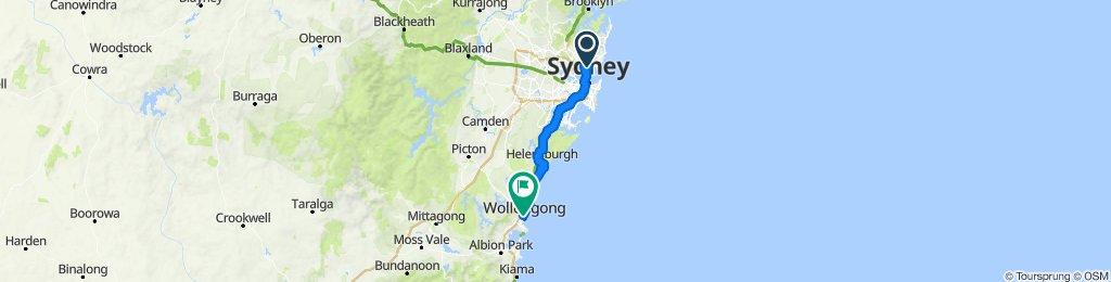 Castlecrag to Wollongong