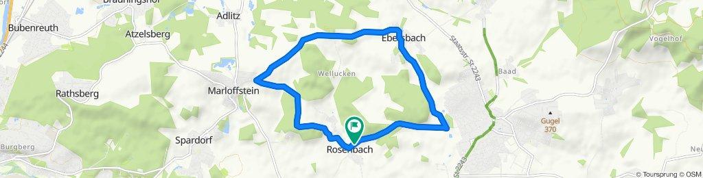 Laufstrecke in Neunkirchen am Brand