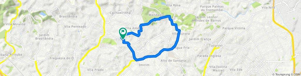 Rota com esforço   VNCachoeirinha-Mandaqui