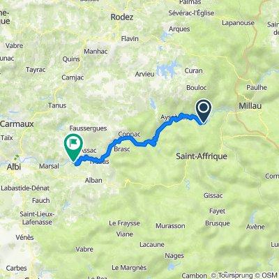 Avignon-Toulouse, 6.Etappe bis Ambialet