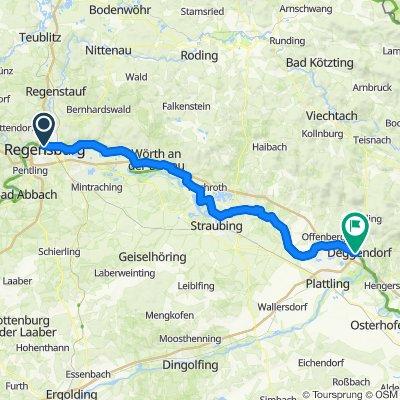 07 - Regensburg - Deggendorf - 83km, 70HM