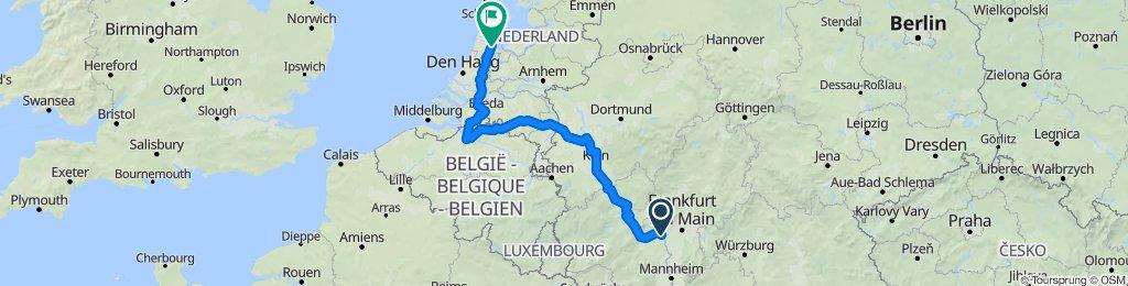 Mainz to Amsterdam