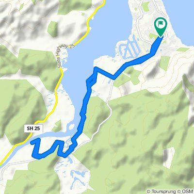 High-speed route in Pauanui