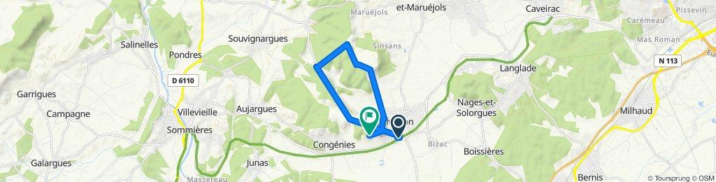 Itinéraire facile en Calvisson