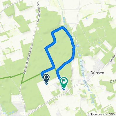 Moderate Route in dünsen